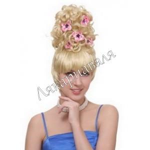 """парик """"Блондинка с цветами"""""""