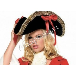 "шляпа ""Пиратка""бархат"