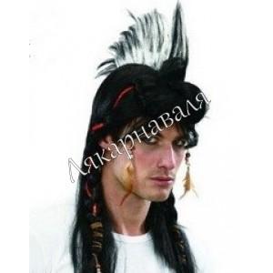 """парик """"Индеец с ирокезами"""""""