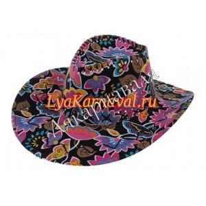 """шляпа """"Ковбой"""" цветная."""