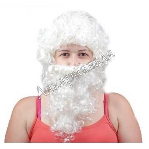 "парик ""Дед Мороз""(борода и усы)"