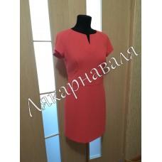 Платье офисное на подкладке.